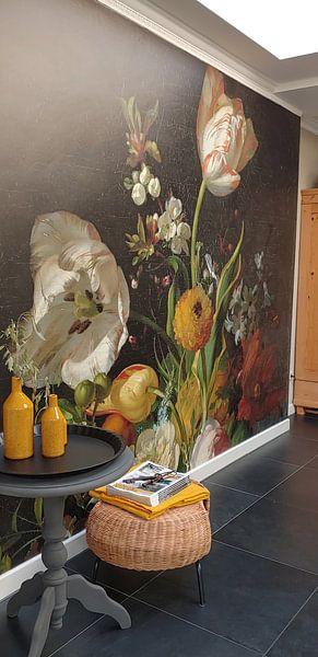 Kundenfoto: Stillleben mit Blumen in einer Glasvase,Rachel Ruysch, auf medium_16
