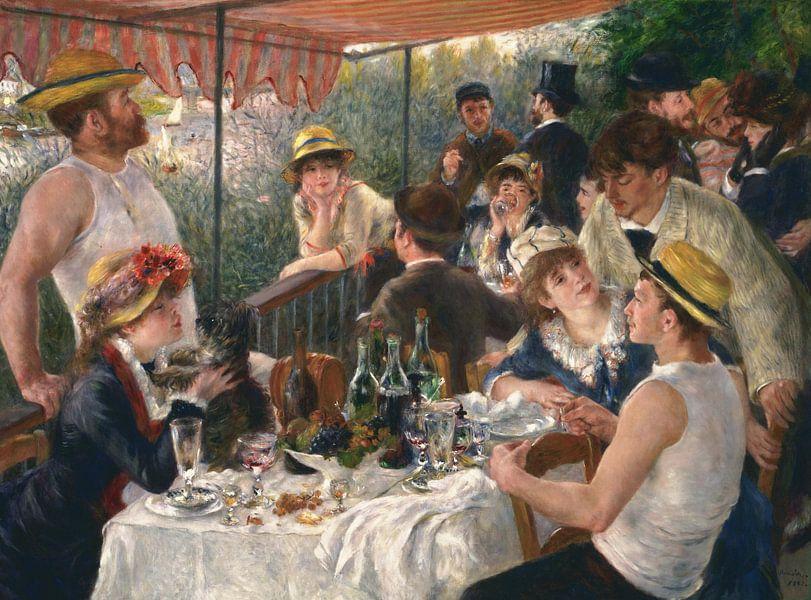 August Renoir.  Lunch van de roeiers van 1000 Schilderijen