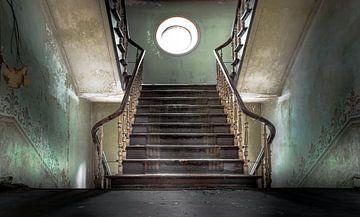 Master stairs of a abandoned castle sur Olivier Van Cauwelaert