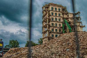 afgebroken oud ziekenhuis gebouw