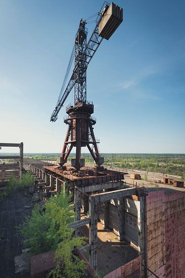 Bouwplaats Reactor Tsjernobyl  van Perry Wiertz
