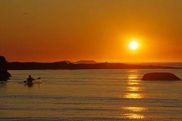 Sonnenuntergang auf den Lofoten von Reinhard  Pantke