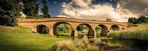 Ridgemond Brug in Tasmanië, Australië van Sven Wildschut