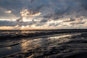 The unexpected sunset at Schiermonnikoog sur