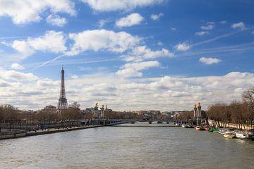 Seine met Eiffeltoren van Dennis van de Water
