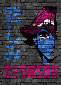 Anime Manga Sadness Traurig von KalliDesignShop