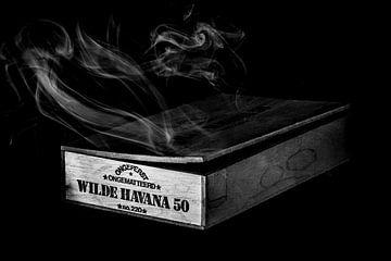 Wo Rauch ist, da ist auch wildes Havanna (Schwarz und Weiß) von Marcel Runhart