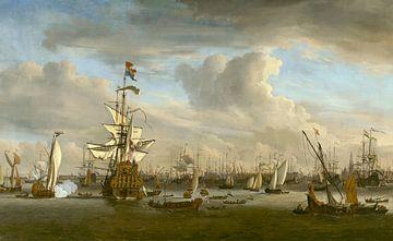 Le Lion d'or sur le JI devant Amsterdam - Willem van de Velde