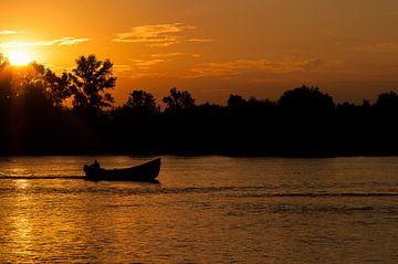 Zonsondergang aan de Donaudelta in Romenië von Jaco Visser