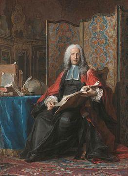 Porträt von Gabriel Bernard de Rieux, Maurice Quentin de La Tour