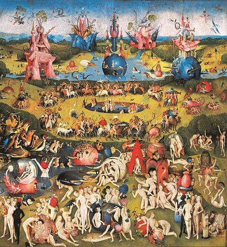 Schilderij Tuin der Lusten - Jheronimus Bosch van