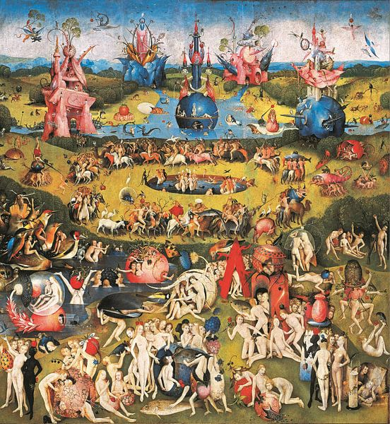Schilderij Tuin der Lusten - Jheronimus Bosch van Schilderijen Nu