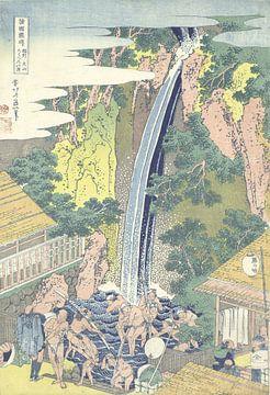 De Roben waterval te Oyama in de provincie Sagami van Katsushika Hokusai, 1830 - 1834