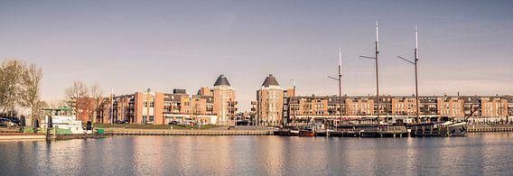 Een panorama van Havenkom van Almere van Sven Wildschut