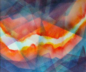 Spoor van licht, fresco van