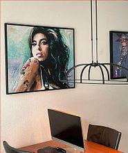 Klantfoto: Amy Winehouse schilderij van Jos Hoppenbrouwers, op canvas