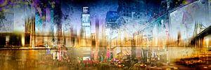 City-Art MANHATTAN SKYLINE & TIMES SQUARE Composing