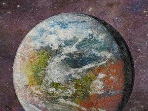 Rood, groen en blauw Mars van Frans Blok