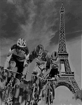Wielrenners in Parijs van ! Grobie
