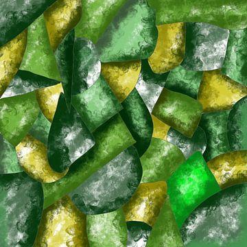 Abstrakte Kunst - Grüne Abstraktion van Patricia Piotrak