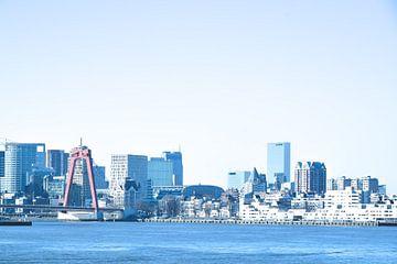 Rotterdam - Willemsbrug en omgeving - in blauwe tinten van Ineke Duijzer