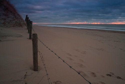 Beach godbeam van Johan Viele