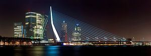 Panorama Erasmusbrug en de Rotterdam