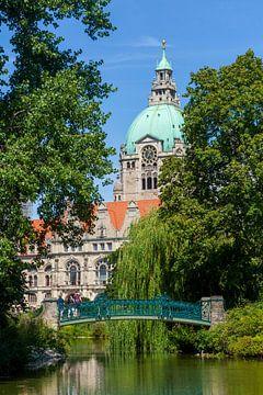 Neues Rathaus im Maschpark am Maschteich, Hannover, Niedersachsen, Deutschland, Europa von Torsten Krüger