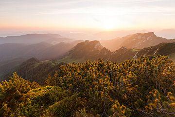Sonnenaufgang auf der Benediktenwand von Jiri Viehmann