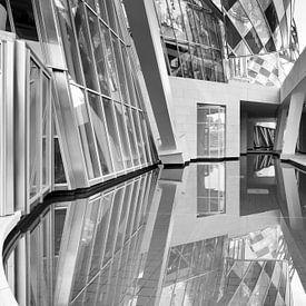 Architecture de Paris Fondation Louis Vuitton en noir et blanc sur Marianne van der Zee