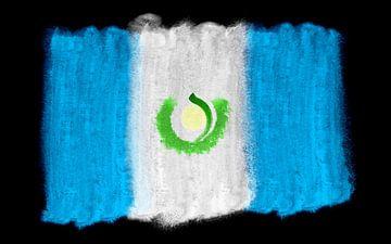 Symbolische nationale vlag van Guatemala van Achim Prill