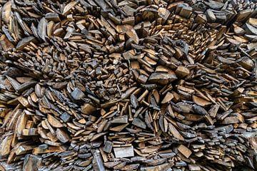 Montagne de planches de bois sur Paul Veen
