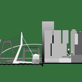 Rotterdam horizon, edition vert sur Frans Blok