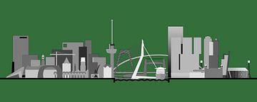 Rotterdamse skyline, Rotterdams groen van Frans Blok