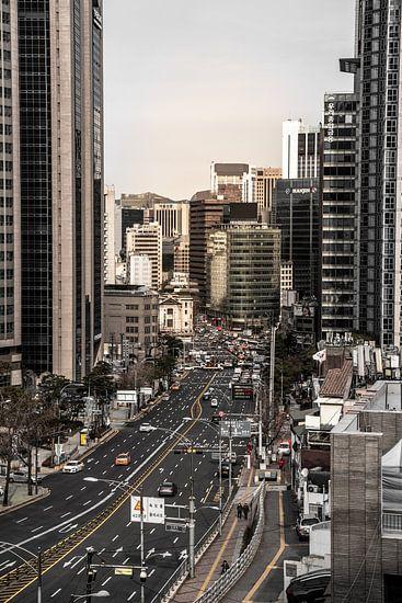 Stadszicht op de hoogbouw in Seoul