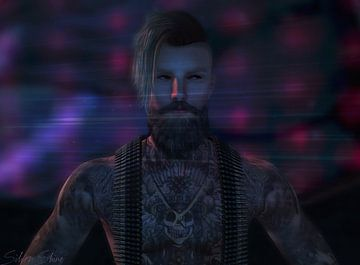 Second Life - Getatoeëerde man van Atelier Liesjes