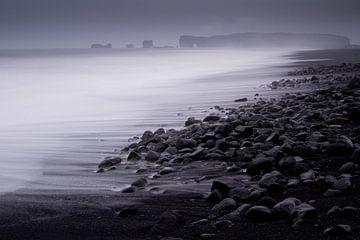 Lavastrand nabij Dyrholaey van Sam Mannaerts Natuurfotografie
