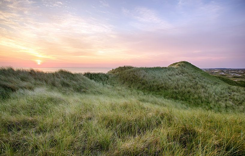 Sunset over the dunes sur Fotografie Egmond