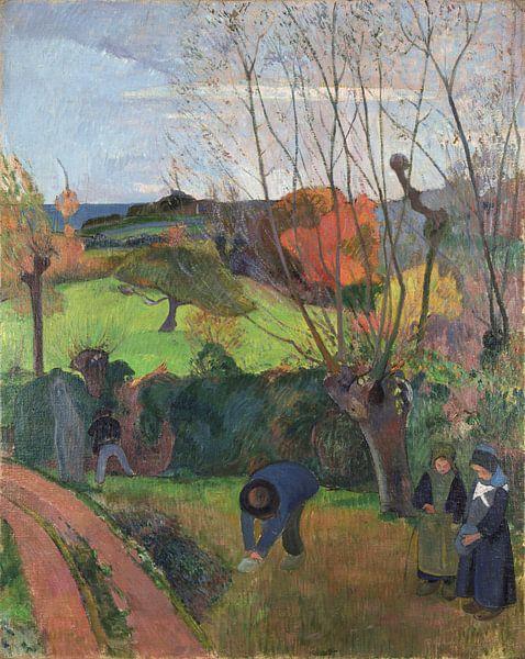 Paul Gauguin. Tahitian landscape van 1000 Schilderijen