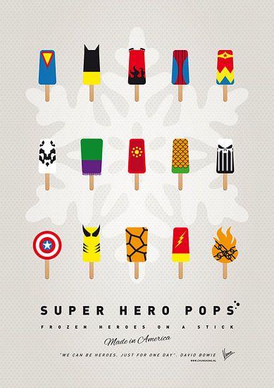 My SUPERHERO ICE POP - UNIVERS van  Chunkong Art