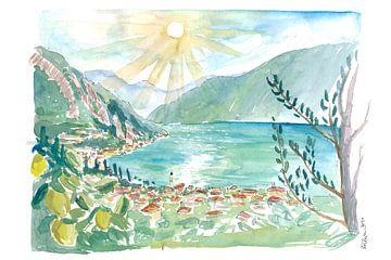 Limone Sul Garda Vue tropicale du lac de Garde et des citrons sur Markus Bleichner