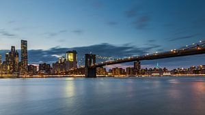 Skyline New York Brooklyn Bridge