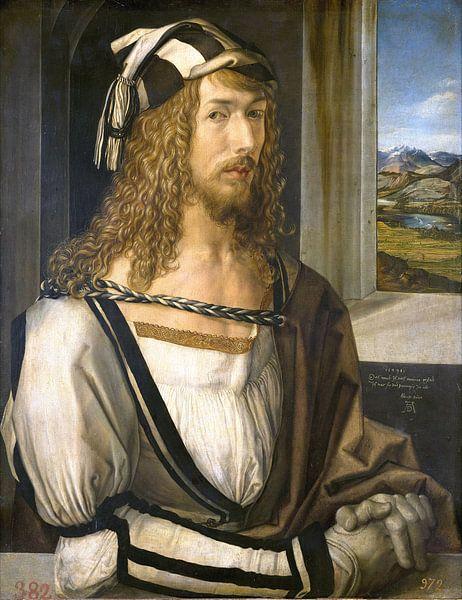 Albrecht Dürer.Selbstporträt von 1000 Schilderijen