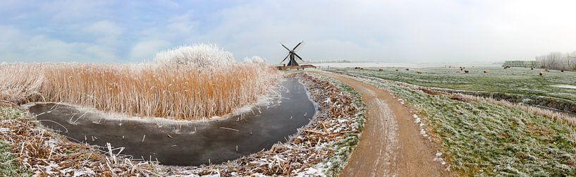 De terpensmole bij IJlst in Friesland. Wout Kok One2expose Photography van Wout Kok