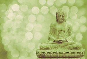 buddha light green