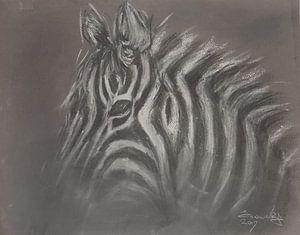 Afrikaanse zebra van Ineke de Rijk