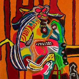 Abstrakt portret van Freds Atelier