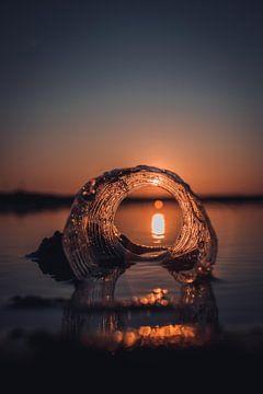 Coucher de soleil créatif sur Derk Visser