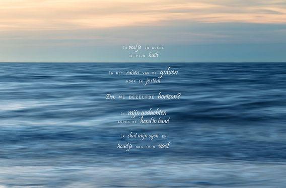 Ik mis je (3) van Beeld en Poëzie