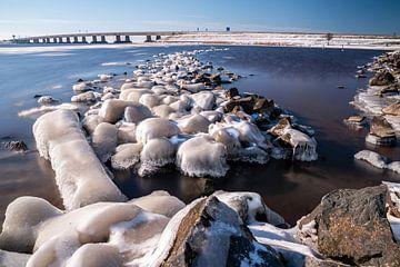Winter unter der Ketelbrug von Martien Hoogebeen Fotografie
